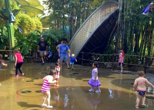 Water Splash Pads at California Adventure - California Adventure Rides for Toddlers