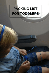 Packing list for Travel with toddlers