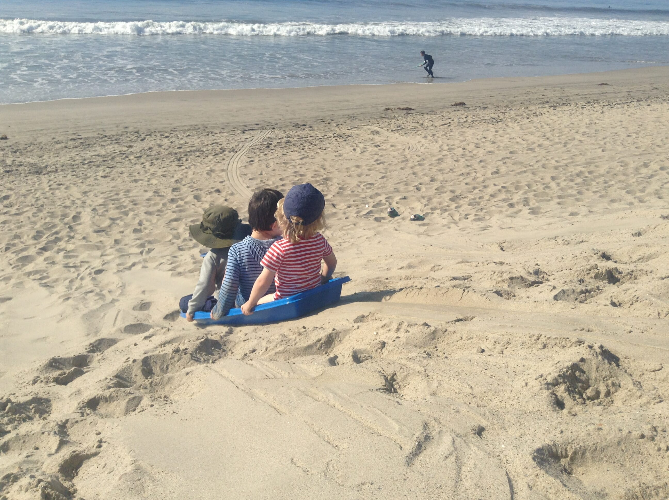 Sand Sledding: Winter Fun For The Whole Family