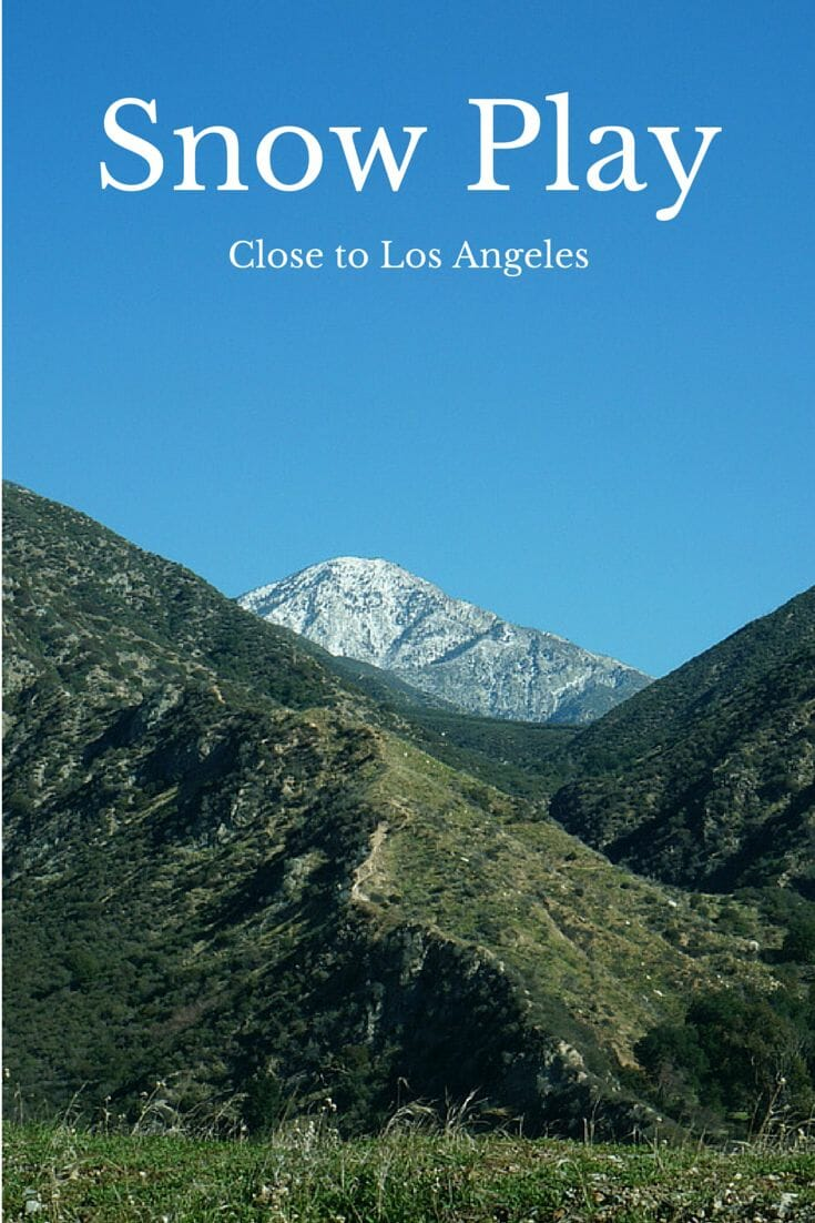 Snow Play close to Los Angeles