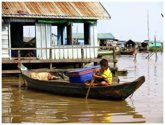 Tonle Sap, Floating Village