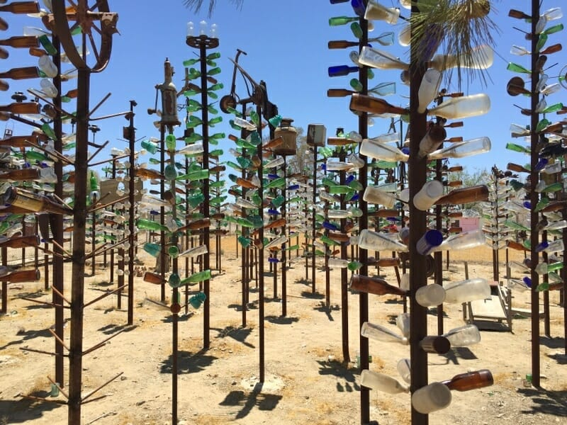Bottle Tree Ranch, one of the best stops on Route 66 Los Angeles to Grand Canyon