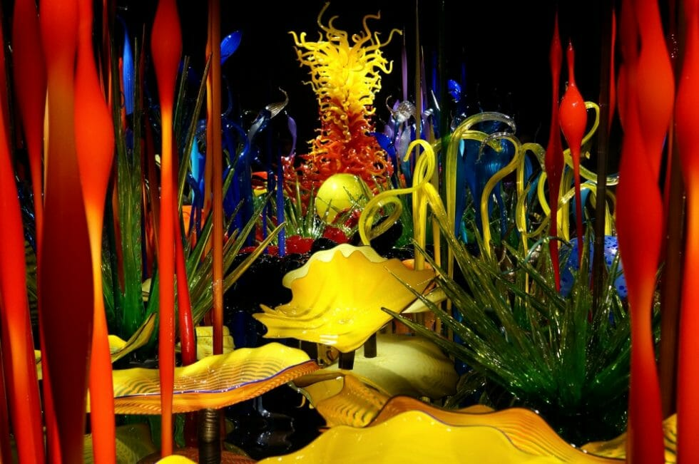 Glass works of Dale Chihuly in Seattle