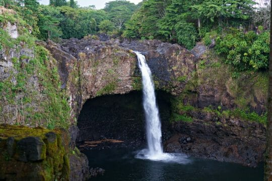 Year in Review: Hawaii waterfall