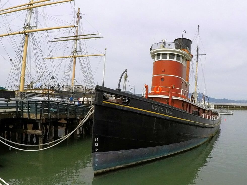 Visiting the maritime ships is a fun thing to do at Fisherman's Wharf