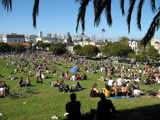 Things to do in San Francisco with Kids - Dolores Park