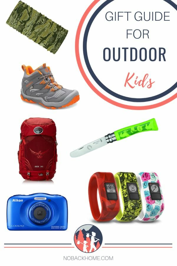 Holiday gift guide for outdoor loving kids! Walkie Talkies, hiking shoes, backpacks and more.