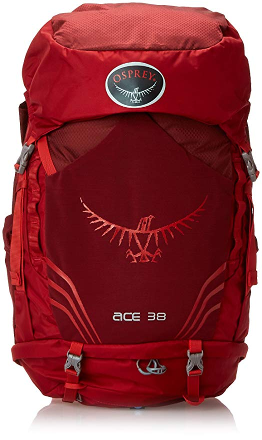 Kid Travel backpack options include the Osprey Ace 38