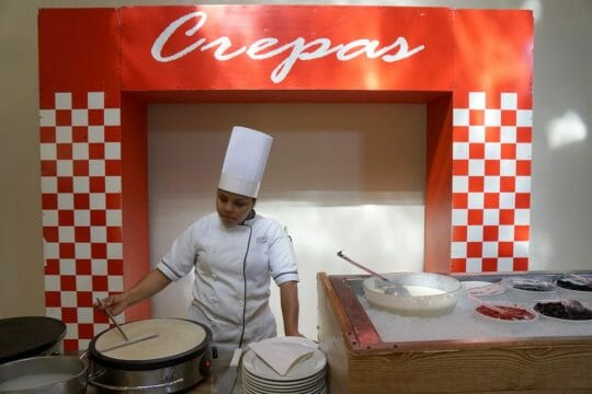 Crepe Station at the Velas Vallarta
