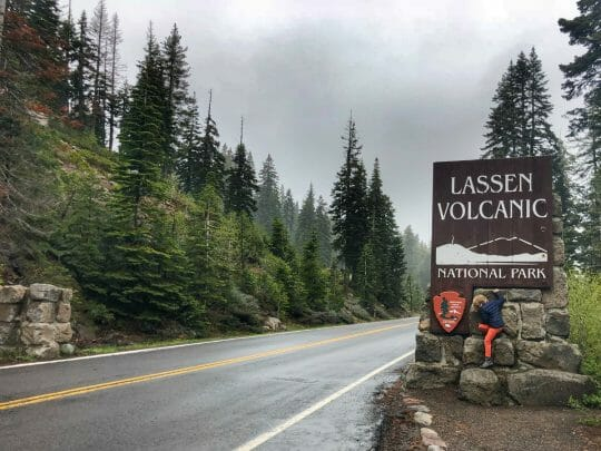 Lassen National Park with kids