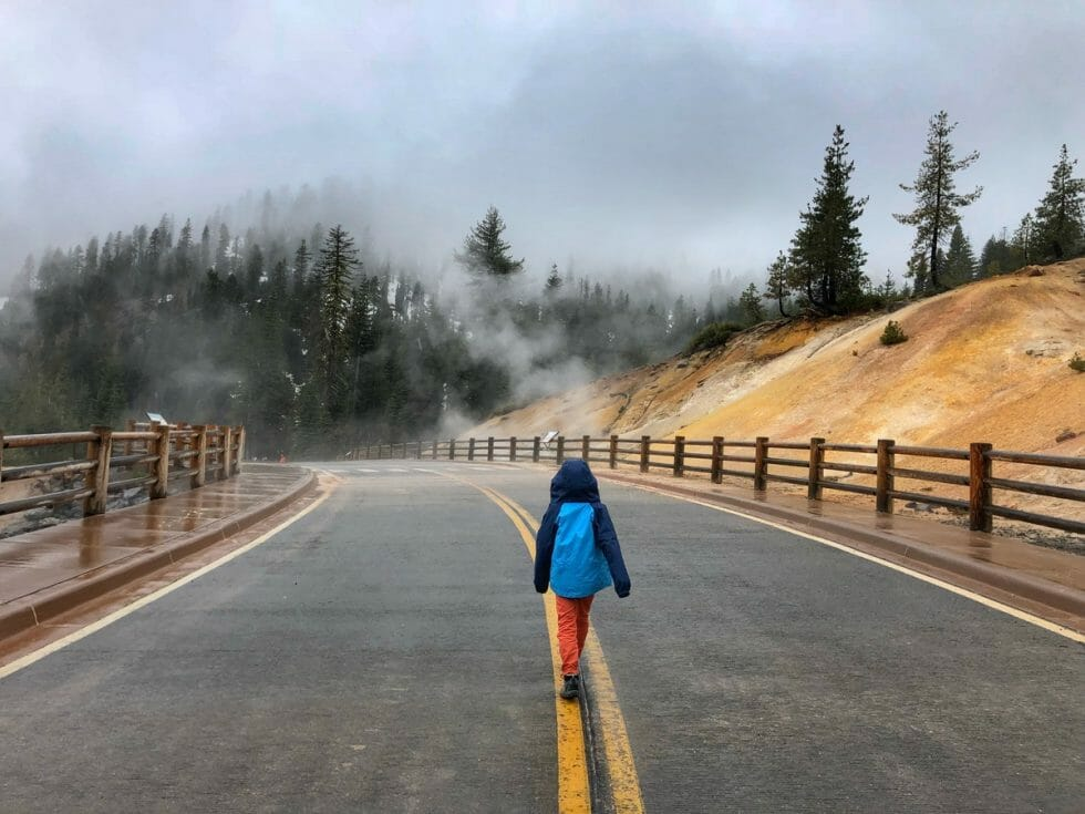 Hiking at Lassen Volcanic National Park with kids