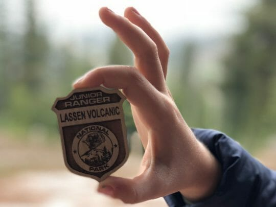 Junior ranger badge at Lassen National Park
