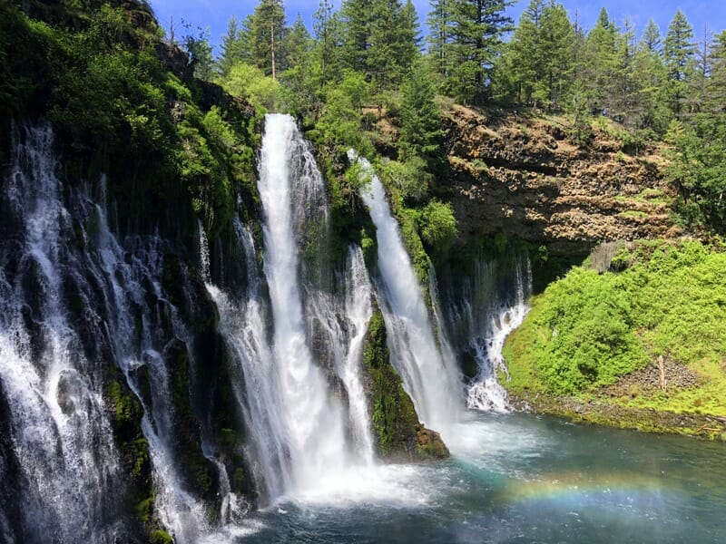 The most beautiful waterfall in California is Burney Falls, a top northern California attraction