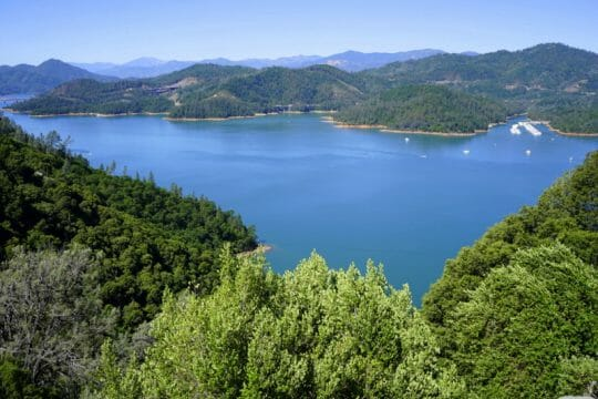 Lake Shasta in upstate California