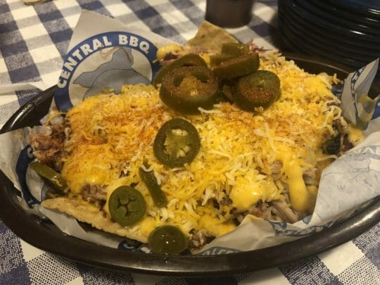 Central BBQ's pulled pork nachos