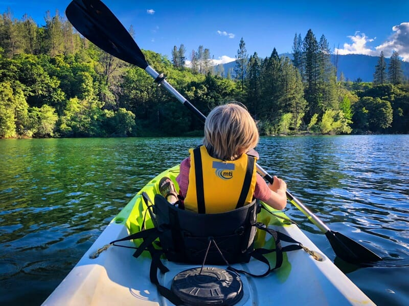 Kayaking with park rangers on Whiskeytown Lake is a must do northern california attraction