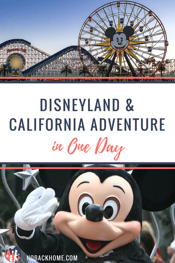 Disneyland and California Adventure in One Day - No Back Home