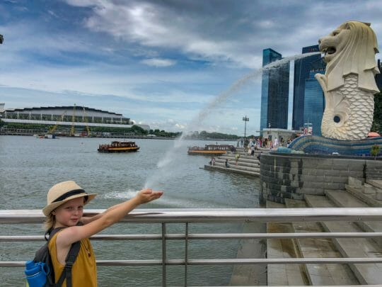 Merlion is a must visit in Singapore with Kids