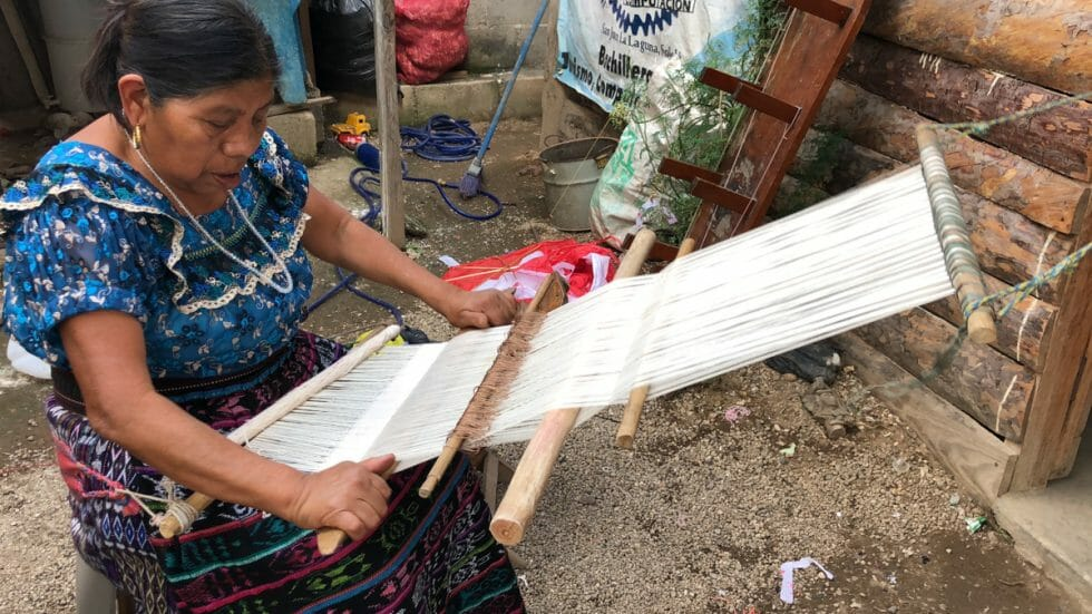 Backstrap weaving in Guatemala