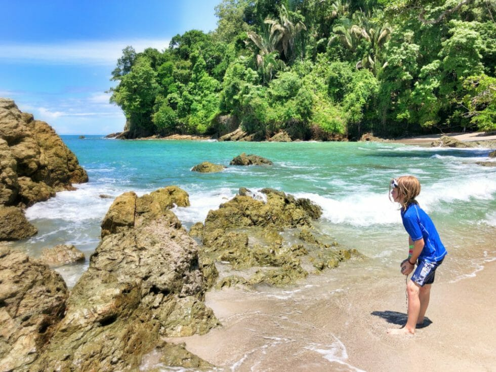 The beach is one of the top things to do in Manuel Antonio