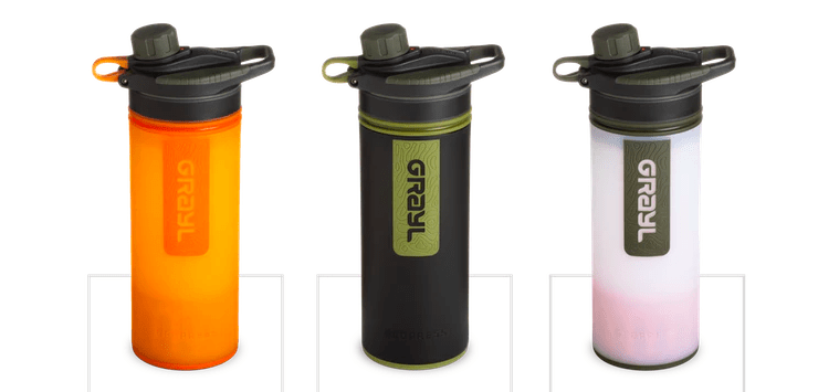 566c8ad157 The next item on my essentials list is my new Grayl Geopress water  filter purification bottle. I also have their previous bottle that was a  filter