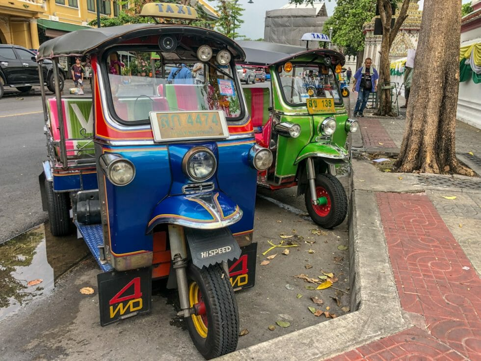 When exploring Bangkok with kids, you must ride in a tuk tuk!