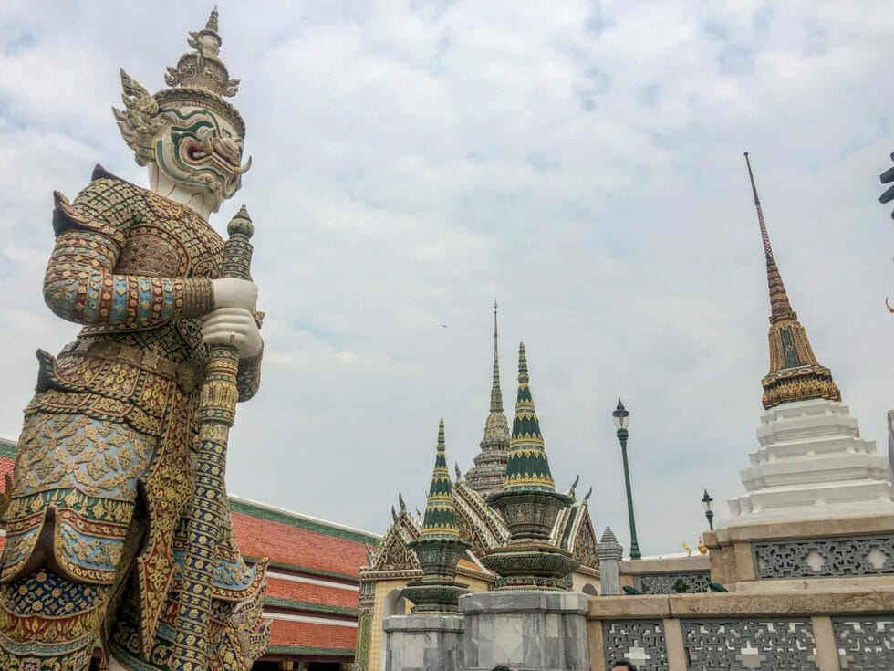 One of the many cool statues at the Grand Palace in Bangkok