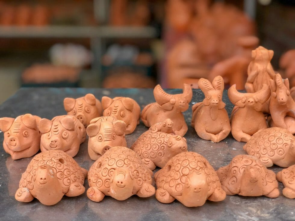 Pottery Village in hoi An with kids