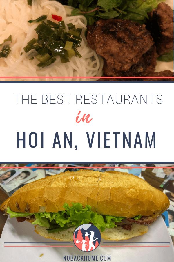 FInd the best restaurants in Hoi An Vietnam