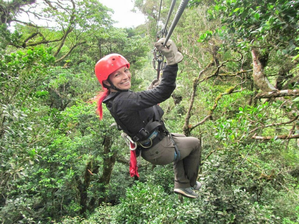 Our fearless leader Tania on our Costa Rica family vacation with Intrepid Travel