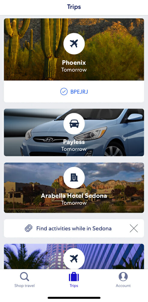 Use the Expedia App to plan your Sedona getaway