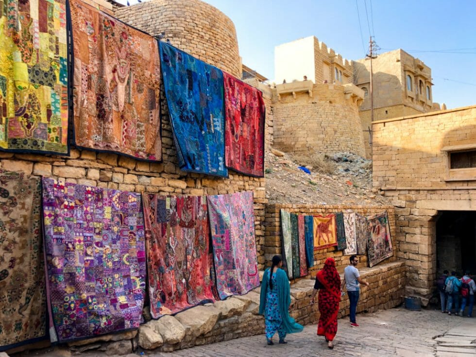 Street sellers in Jaisalmer - Don't forget to bargain on a trip to India