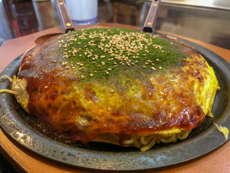 The best Japanese food in Torrance is okonomiyaki!