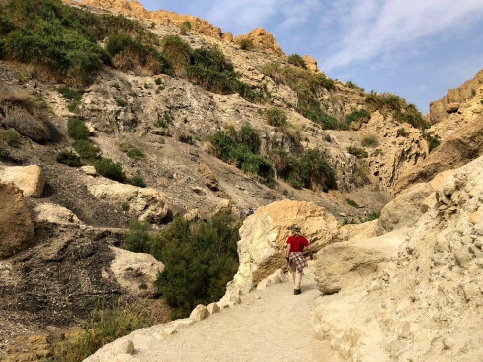 hiking the Ein Gedi