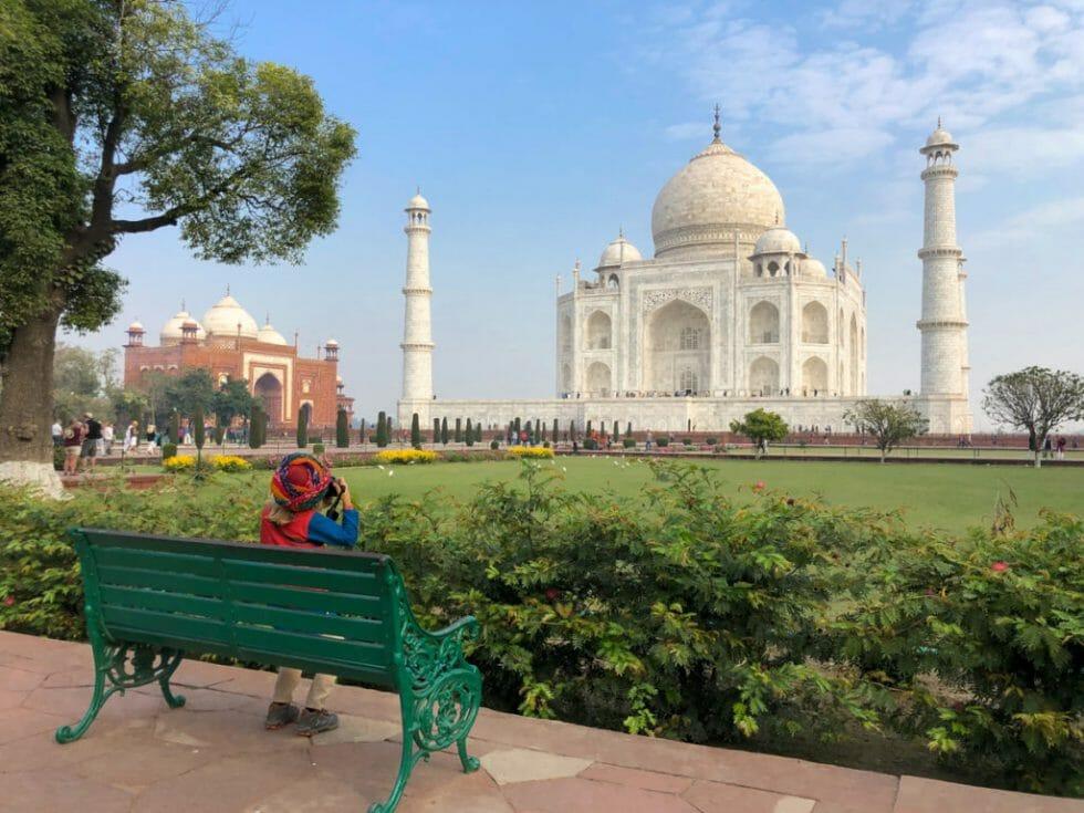 Visiting the Taj Mahal in India